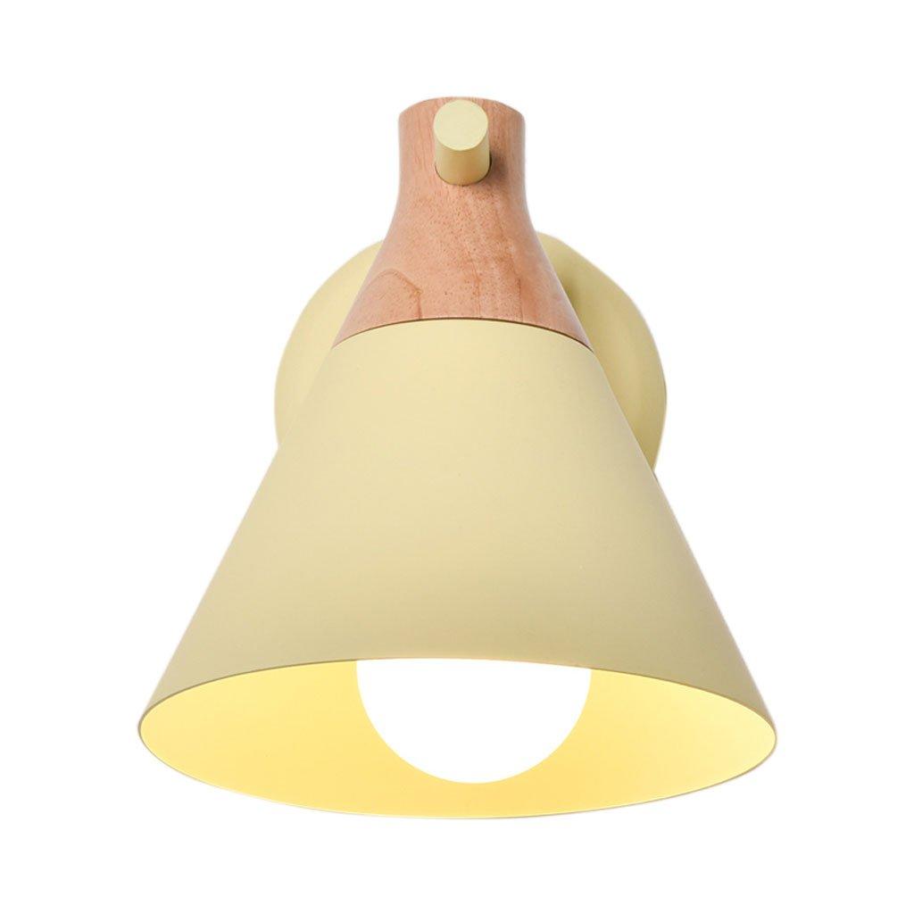 Unbekannt HUYP Einfache Schlafzimmer Wandleuchte Nachttischlampe Kreative Kinderzimmer Nette Wandleuchte (Farbe : Gelb)