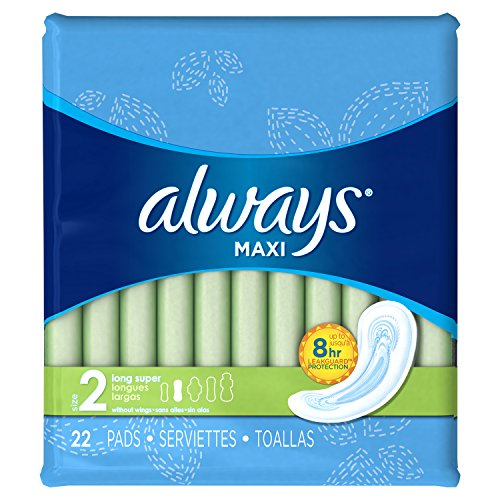 Always Without Absorbency Unscented Packaging