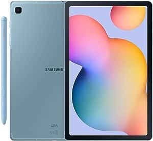 Samsung Galaxy Tab S6 Lite w/S Pen (64GB, WiFi + Cellular) 4G LTE Tablet & Phone (Makes Calls) GSM Unlocked SM-P615, International Model (Angora Blue)