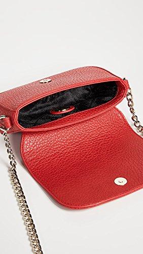 Collie a Borsa Love con Leather logo Moschino Red borchie tracolla piccola rosso pRpErzq5nx