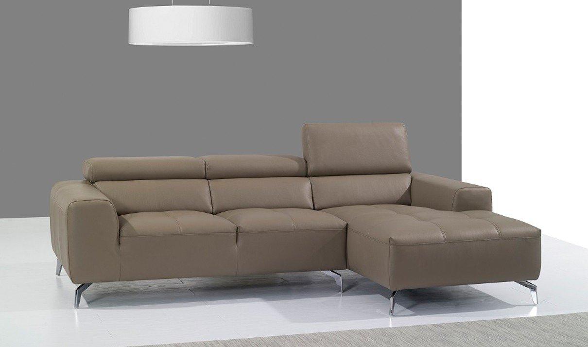 Amazon.com: J & M muebles a978b piel italiana derecha sofá ...