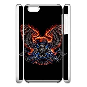 Design Cases iphone5c 3D Cell Phone Case White Firefighter Emblem Twkztq Printed Cover