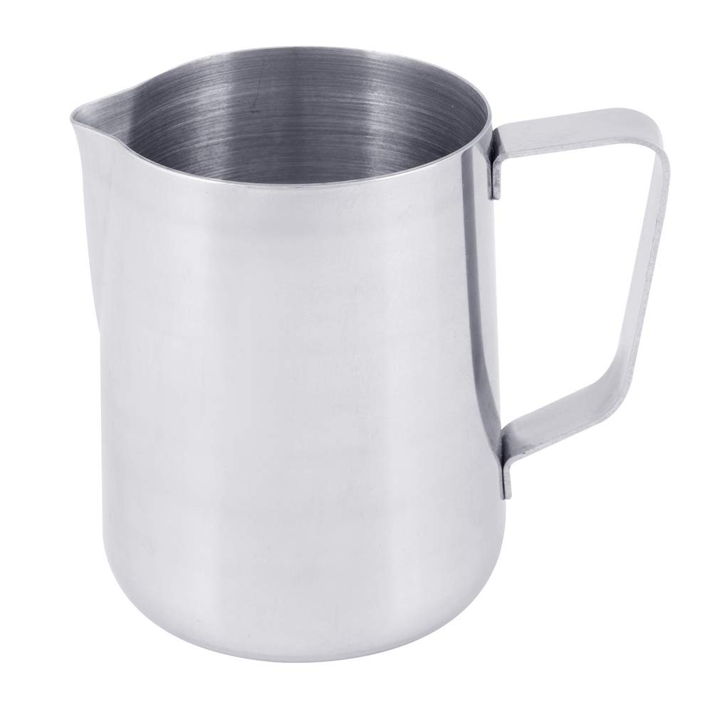 2 Quart Milk Frothing Pitcher, 66-Ounce / 2000 ml. Extra Large Milk Pitcher by Tezzorio, Stainless Steel Milk Steaming Frothing Pitchers for Espresso Machines, Milk Frother/Latte Art
