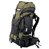 TAIGA International® Traverse – Travel and Hiking Backpacks Back Packs, Olive, Medium (65l; 5.5lbs), Outdoor Stuffs