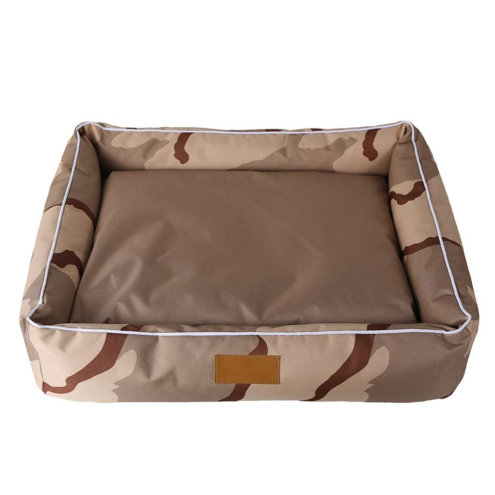 655515cm Dog Bed with Large Washable Cushion Removable Cover Brown Selectable Size (Size   65  55  15cm)