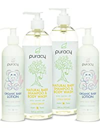 Puracy Natural and Organic Baby Care Gift Set, Baby Shampoo and Lotion, Sulfate-Free, Developed by Doctors, (Pack of 4) BOBEBE Online Baby Store From New York to Miami and Los Angeles