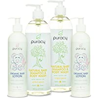 Puracy Natural and Organic Baby Care Gift Set, Baby Shampoo and Lotion, Sulfa...