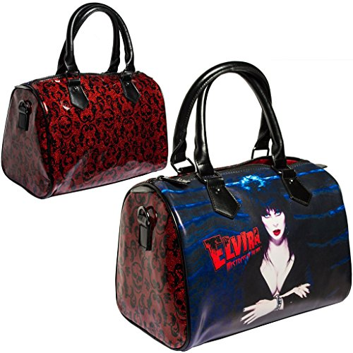 [Elvira Red Glitter Purse Goth Chic Style Kreepsville Halloween Handbag] (666 Halloween Costume)