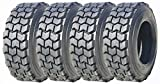 4 New ZEEMAX Premium Super Duty 12-16.5 12x16.5 /12PR L4 Skid Steer Tires w/ Rim Guard
