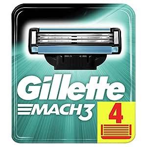 Gillette Mach3 Men's Razor Blade Refills, 4 Count