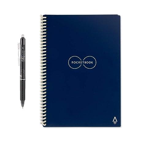 Image result for Rocketbook Everlast LETTER - Erasable, Reusable Wirebound Smart Notebook - Dark Blue