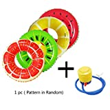 35 Inch Inflatable Pool Float for Kids, Fruit Style Watermelon Painting Adult/Child Thicken PVC Swimming Ring Floating Rings Kids Floatie Raft for Pool Party Decoration (1 Pack, Random Color)