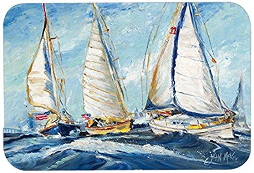 Caroline's Treasures JMK1027LCB Roll Me Over Sailboats Glass Cutting Board, Large, Multicolor Sail Glass