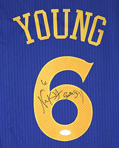 Nick Young Swaggy P Golden State Warriors Signed Autographed Blue #6 Jersey JSA COA