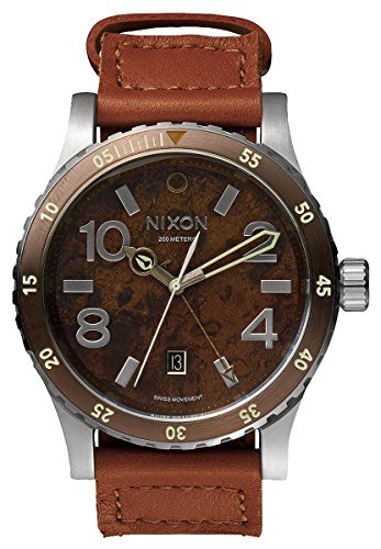 Dark Copper/Saddle The Diplomat Watch by Nixon