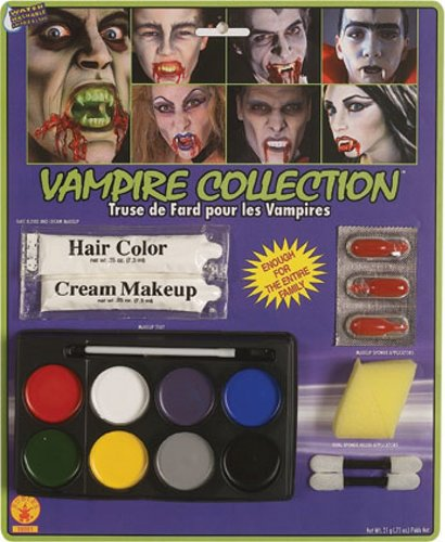 Complete Vampire Makeup Kit, White