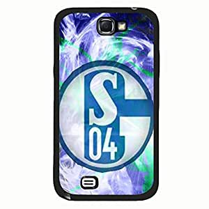 Samsung Galaxy Note 2 Case,Futball-Club Gelsenkirchen-Schalke 04 Logo Protective Phone Case Black Hard Plastic Case Cover For Samsung Galaxy Note 2 FC Schalke 04