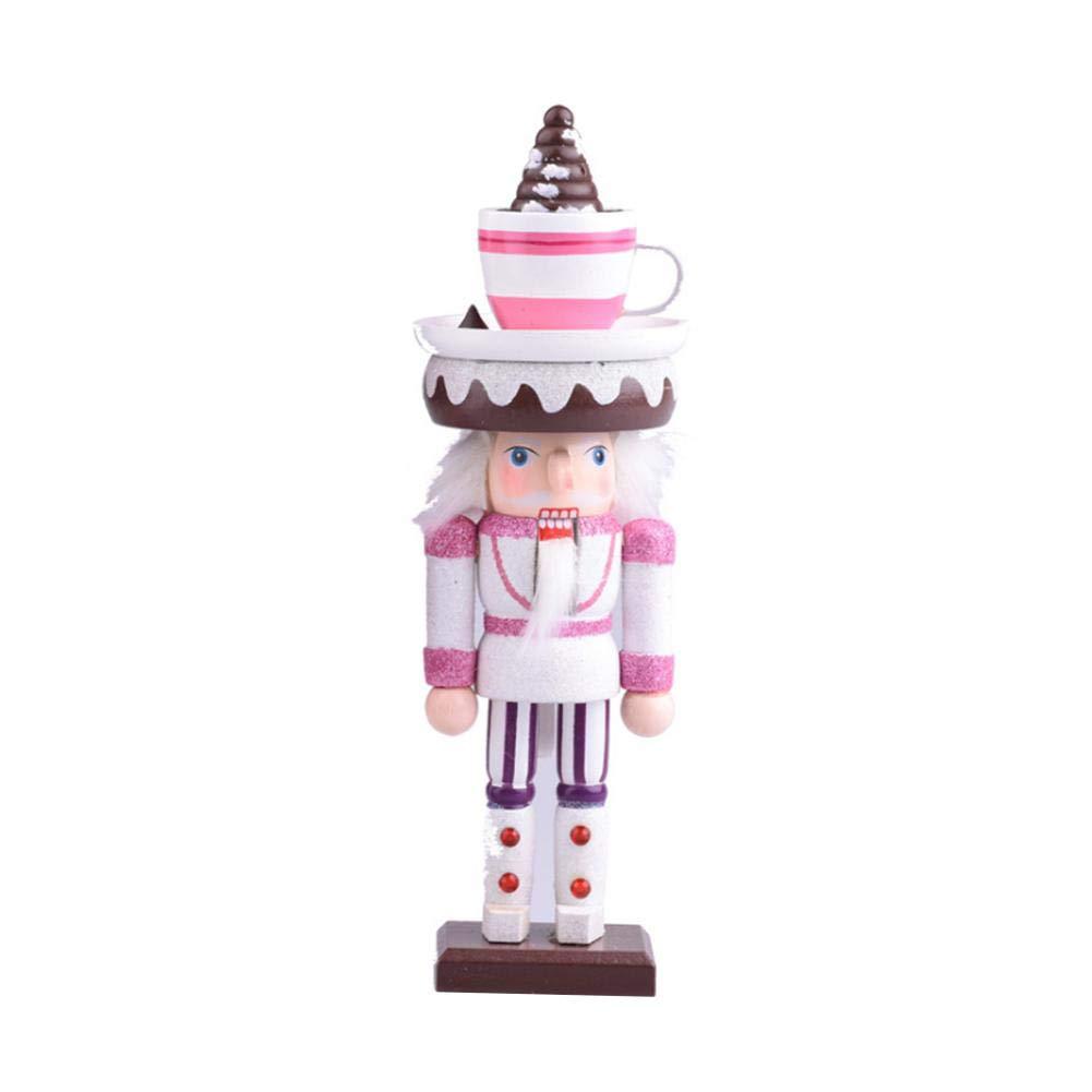 lingzhuo-shop Soldat Casse-Noisette en Bois sur Pied Casse Noisette /Écossais Figurine Soldat Collection D/écoration De No/ël De Chapeaux Doux Artisanat en Bois Massif 8.6 X 8.6 X6.6 Cm
