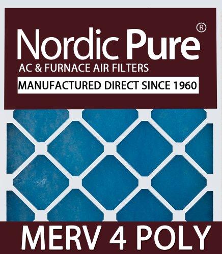 Nordic Pure 16x20x2m4poly 3 Quantity 3 Merv 4 Poly Ta