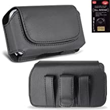 Leather Horizontal Case with Magnetic Closure Big Enough to Fit the Otterbox Commuter Case for the Samsung Galaxy S3, SIII. Comes with Antenna booster