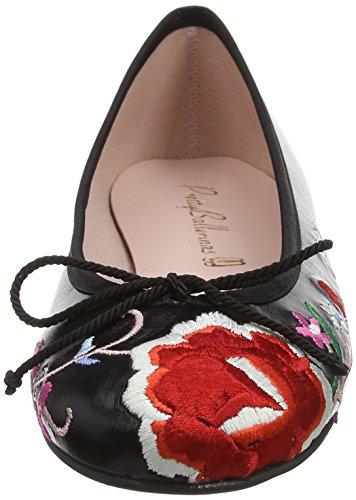 Pretty Ballerinas 35663 - Ballerine Donna Black (Cotton Negro)