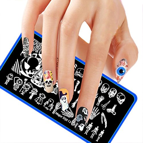 Lisingtool Halloween DIY Nail Art Image Stamp Stamping Plates Manicure (Halloween Gel Nail Ideas)