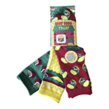 6 Pack Childrens Unisex Novelty Fast Food, Cake Shop & Dinosaur Socks 4 Sizes