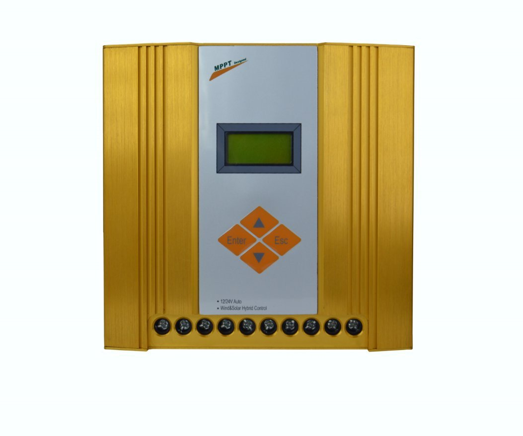 SolarEnz12V/24V Off Grid MPPT Wind Solar Hybrid Charge Controller Design for Max 600W Wind with Max 300W Solar Panel with Booster Function, LCD Display by SolarEnz