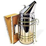 "Bee Hive Smoker 11"" Stainless Steel with Updated Design and Heat Protection."