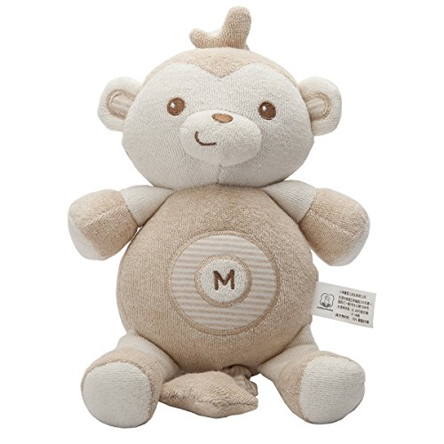 Soft Stuff Baby Toys Smoothing Music Cute Animals Toy Clever Monkey B22013-6 Stroller Hanging Doll Toy gift (Organic Toy Box)