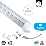 20-PACK T8 8ft V Shape LED tube 60w Integrated 5000k clear 7800 lumens Rebate Eligible