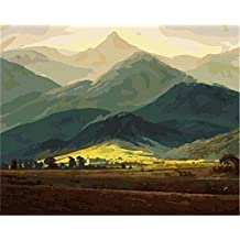 CaptainCrafts New Paint by Number Kits - Giant Mountains 16x20 inch Frameless - Diy Painting by Numbers for Adults Beginner Kids