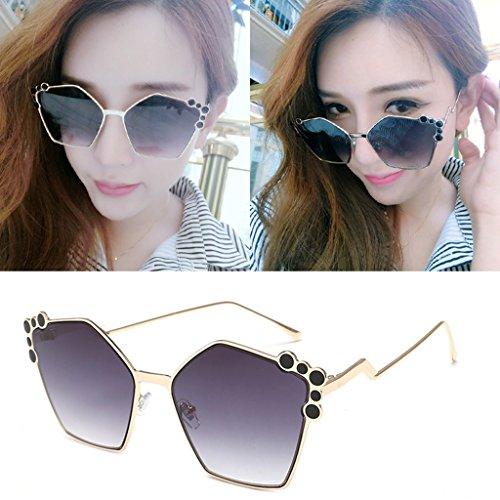 Protección de de Moda sol 100 LYM Color 2 retro amp; Gafas amp;Gafas sol UV gafas elegantes protecciónn 5 de mujer ww46Xvq
