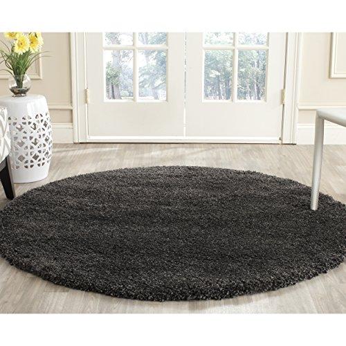 Collection SG180-8484 Dark Grey Round Area Rug (3' Diameter) (100 3' Round Area Rug)