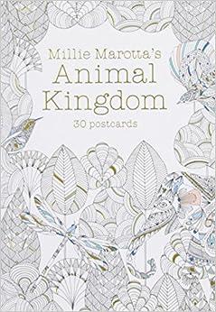 Millie Marottas Animal Kingdom Postcard Book 30 Postcards A Marotta Adult Coloring