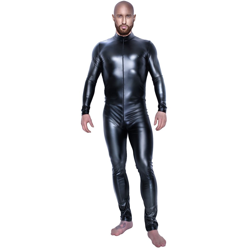 1b4629813 DULEE Men Sexy Patent Leather Tight Wetlook NightClup Clubwear Bodycon  Conjoined Tight Muscle Clothes, XXXL: Amazon.co.uk: Clothing