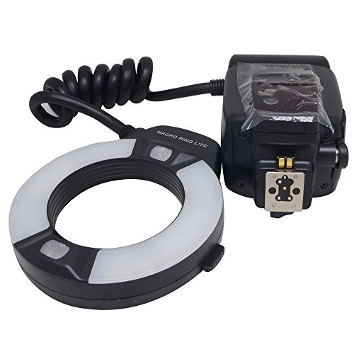 Digital Macro Ring - Mcoplus 14EXT-N 5500K Macro TTL Ring Flash Speedlite LED Video Light for Nikon D7100 D7000 D750 D5300 D5500 D3300 D3100 D800 D600 D90 D80 DSLR Cameras i-TTL with LED AF Assist Lamp