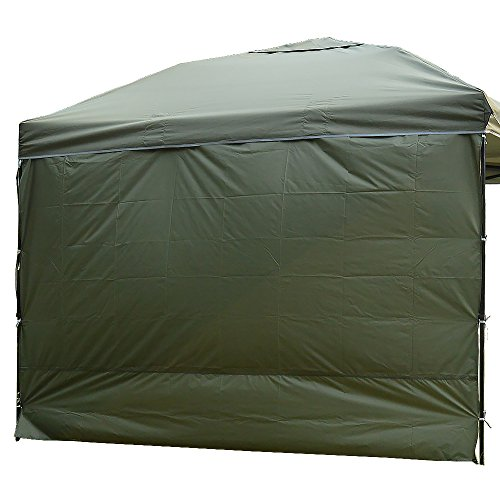 NINAT Side Sunshade Privacy Panel Wall for 10 ft Gazebos Canopy Tent Waterproof, Green