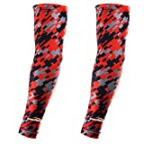 COOLOMG Pair(2 Pieces) Youth Adult Compression Arm sleeves Baseball Digital Camo 8 Color XXS-XL