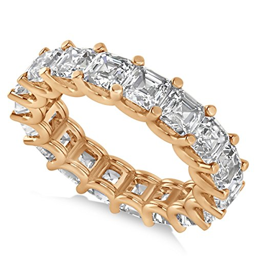 Allurez Radiant-Cut Diamond Eternity Wedding Band Ring in 14k Rose Gold (7.20ct) Radiant Cut Diamond Eternity Band