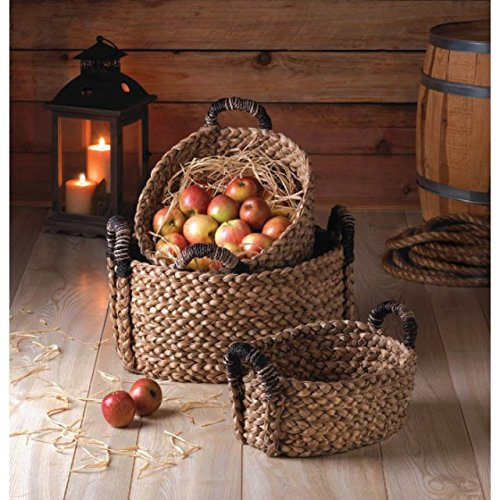 Rustic Woven Nesting Baskets – 3 Pc. Set