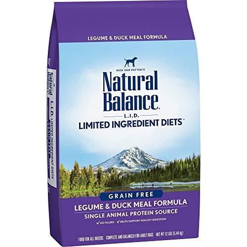 Natural Balance L.I.D. Limited Ingredient Diets Dry Dog Food, Grain Free, Legume & Duck Meal Formula, 12-Pound