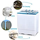 KUPPET Compact Twin Tub Portable Mini Washing