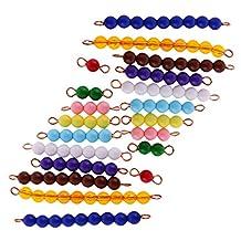 MonkeyJack Montessori Beads Bar 1-10 Mathematic Material 20pcs Kids Education Toy Gifts