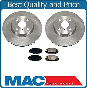 Rear Brake Disc Rotor Rotors Ceramic Brake Pads Set For 12-15 Toyota Yaris SE