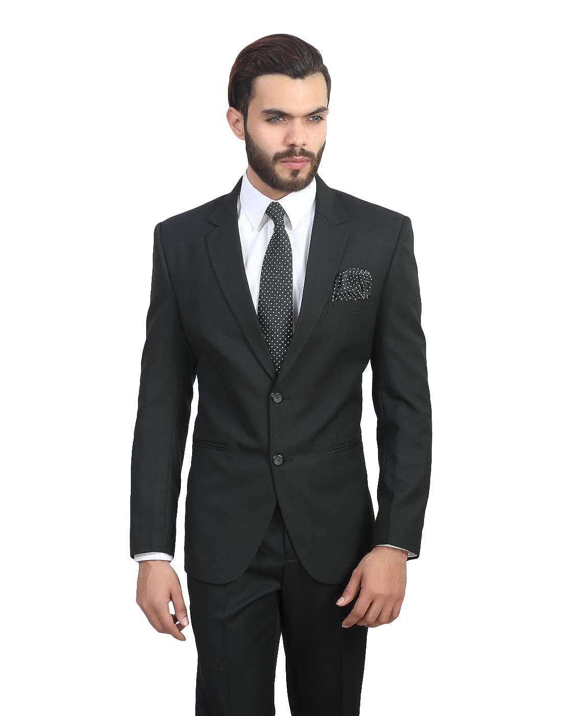 ManQ Men's Viscose Slim Fit Formal Blazer