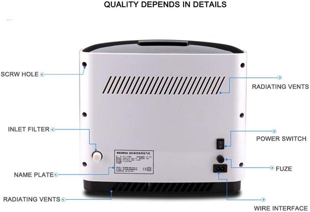 D/&F Concentrateur doxyg/ène Portable Machine /à oxyg/ène Min Ajustable G/én/érateur de concentrateur Travail Silencieux pour Accueil et Voyage Utilisation de la Voiture 1-6L