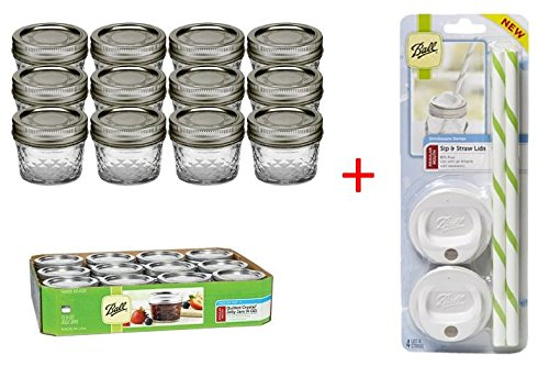 4 ounce mason jars plastic lids - 5