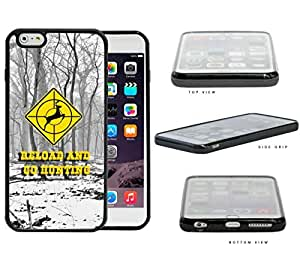 Reload and Go Hunting Yellow Deer Target Sign with Snow Forest Background iPhone 6 PLUS (5.5) INCH SCREEN Rubber Silicone TPU Cell Phone Case