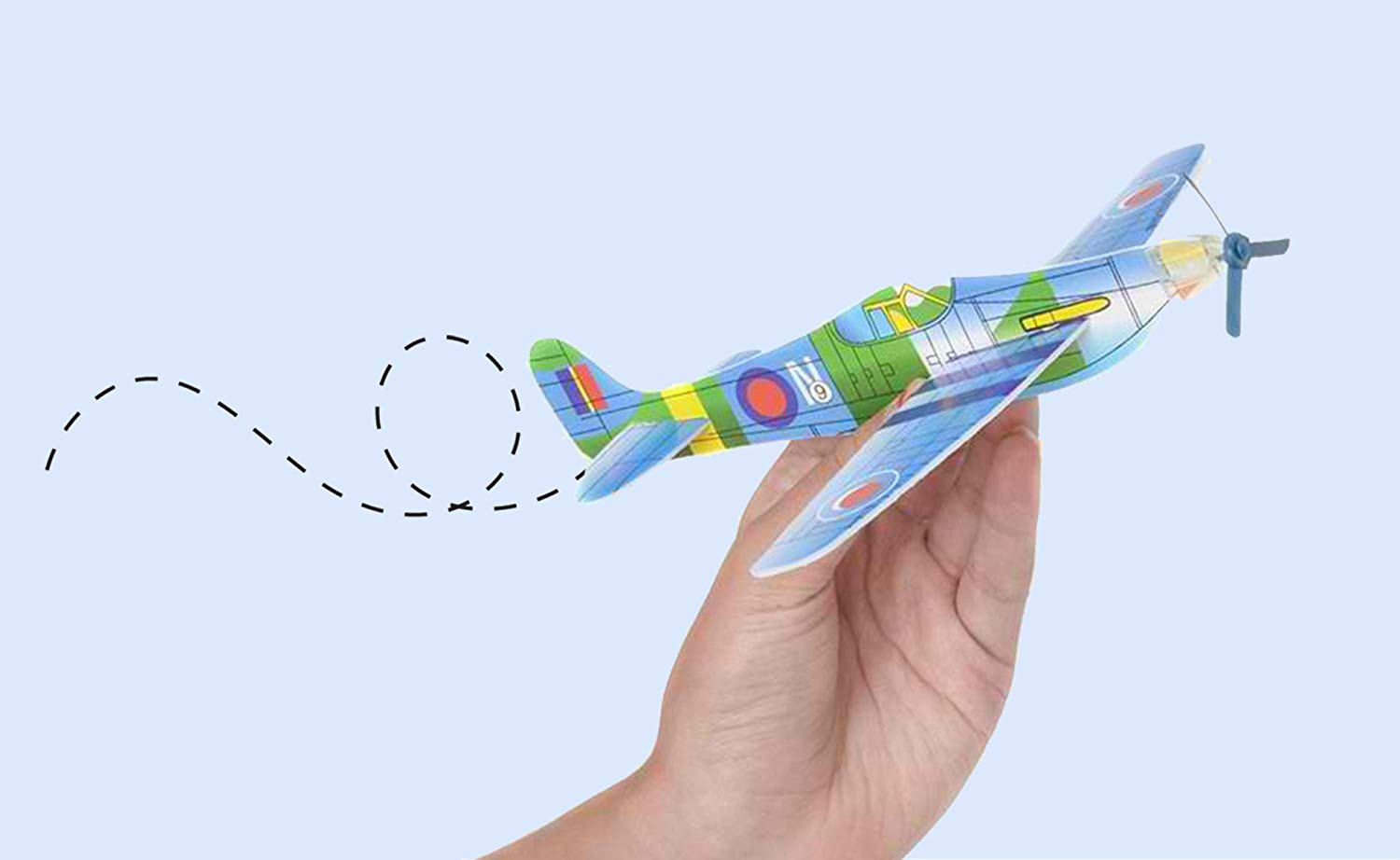 12.5'' Glider Planes,Throwing Foam Airplane ,Dual Flight Mode,Flying Aircraft, Airplane Toy for Kids 3 4 5 6 7 Years Old,Outdoor Sport Game Toys, Boys Girls Flying Party Favors Birthday Gifts by Jupitaz (Image #6)